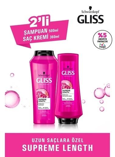 Gliss Supreme Length Uzun Saçlara Özel Set (şampuan 500 Ml + Saç Kremi 360 Ml)  Renksiz